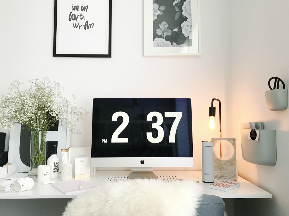 White creative workspace