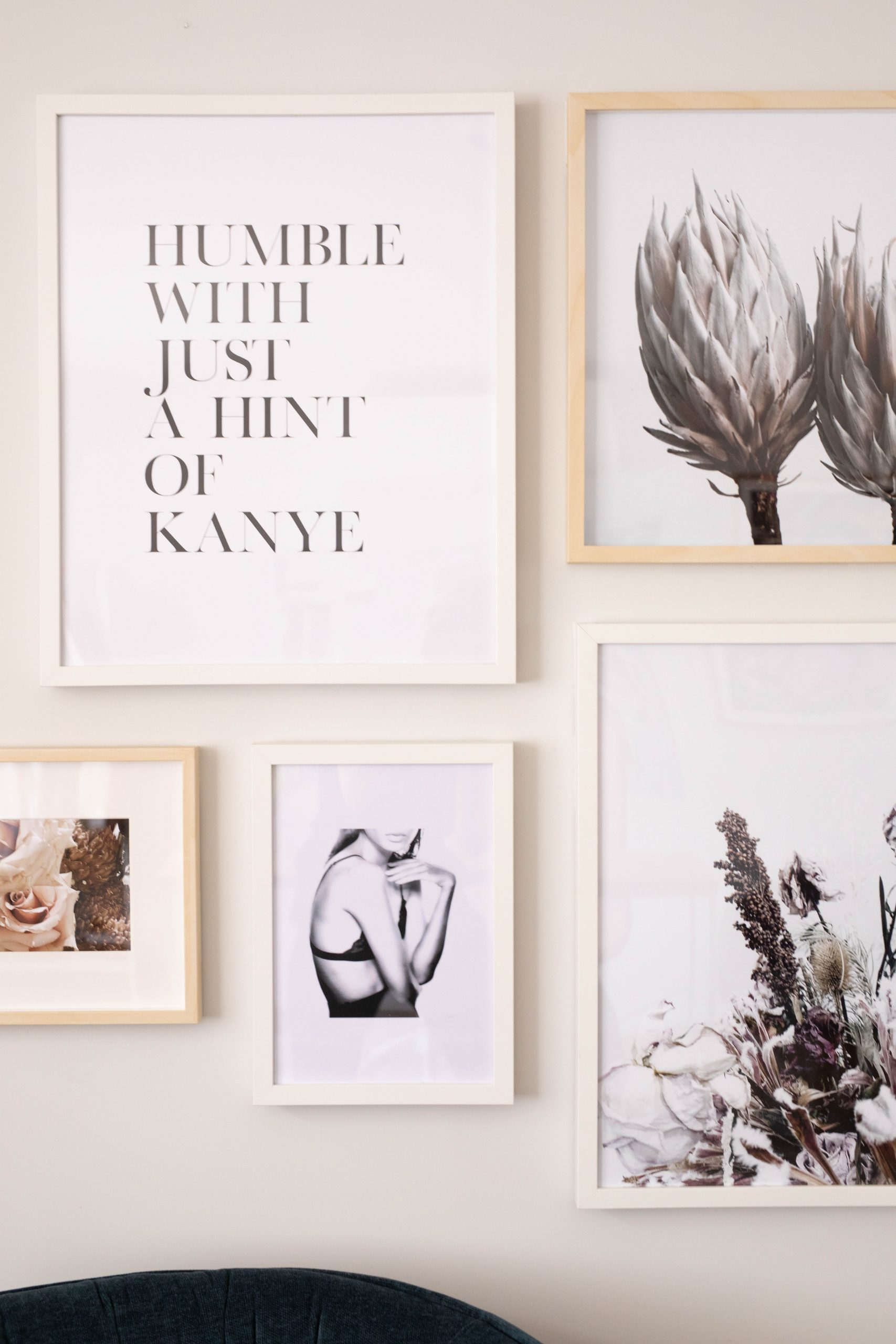 Frame details in a perfect gallery wall