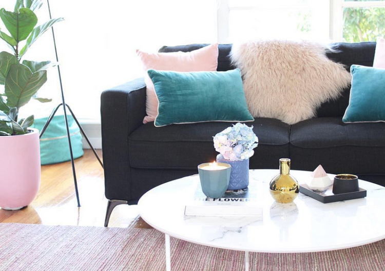 Pretty in pink, Kirra Bell's colourful home tour