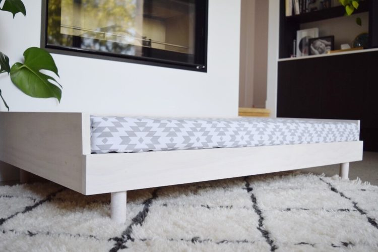 DIY Scandinavian style large dog bed (or toddler day bed!)
