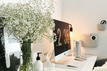 White desk side on