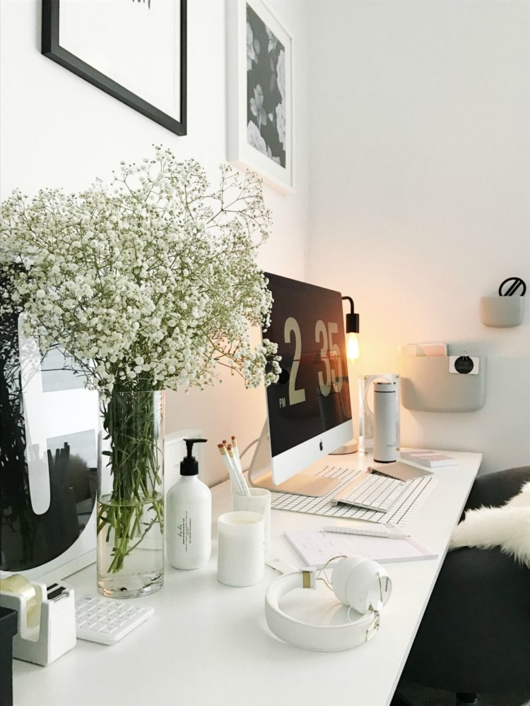 White on white office styling and where to shop the look