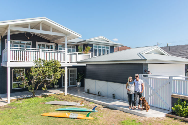 Blockstars Kyal and Kara transform a 1970's shack into a stunning allergy-smart family beach home