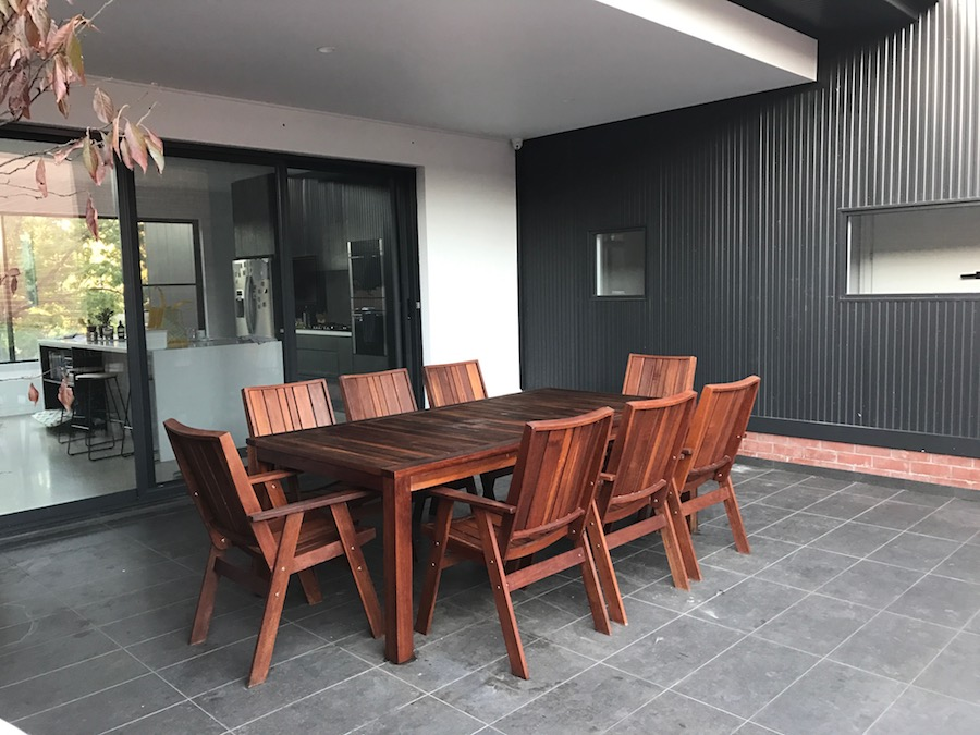 Outdoor dining space