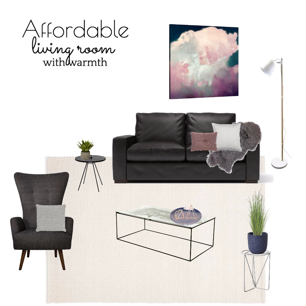 Affordable living room mood board