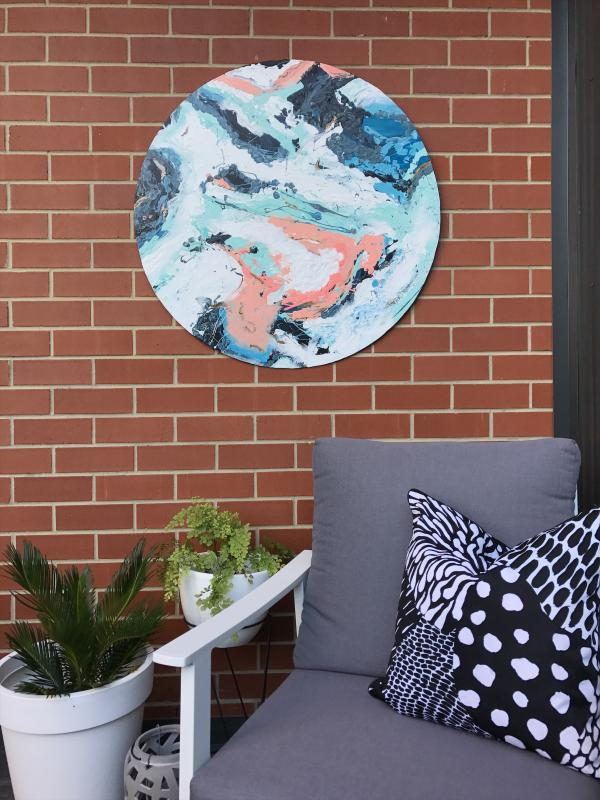 DIY outdoor wall art