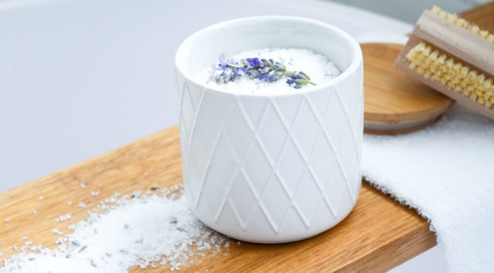 Beautiful lavender bath salts