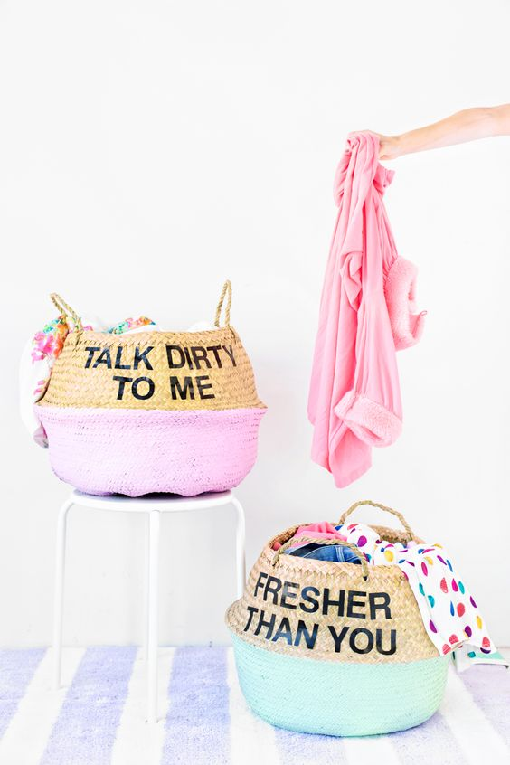 Belly belly basket makeover