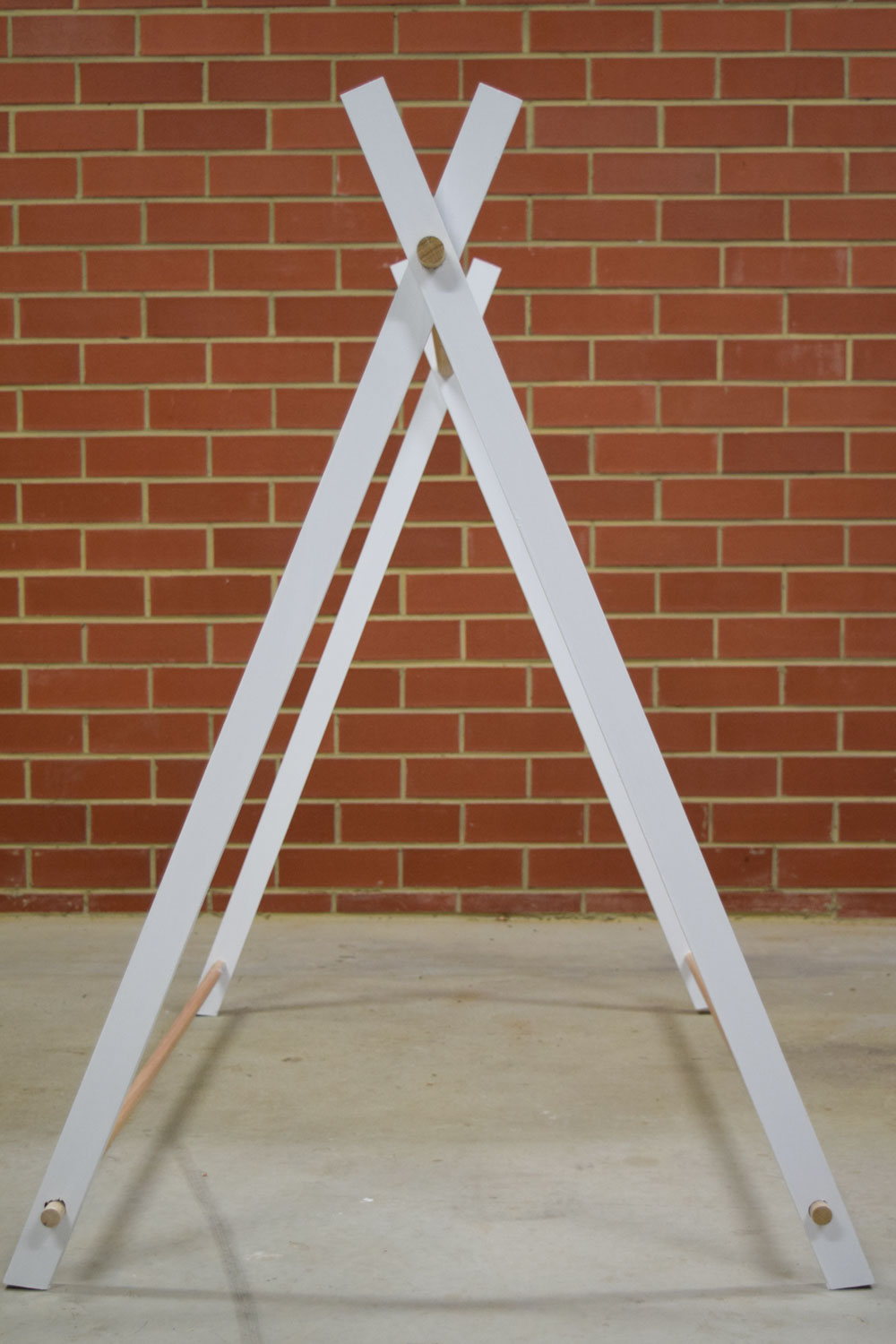 Construct tent frame