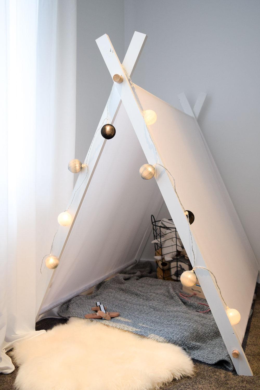 Scandinavian style play tent