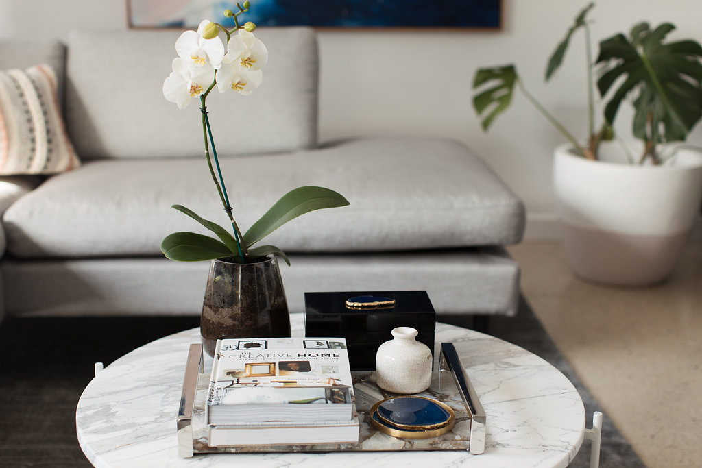 Orchid on coffee table styling your coffee table