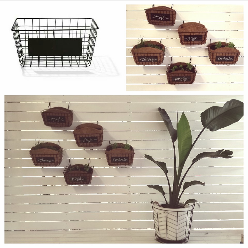 Herb garden baskets Kmart hacks