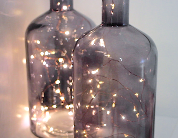 Kmart twinkle lights in vase