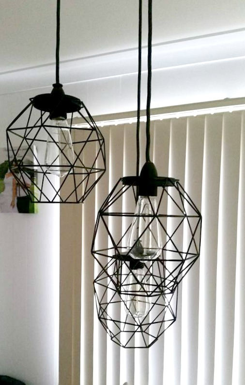 Candle holders as pendant lights