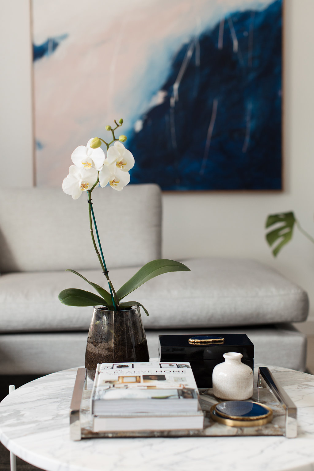 Luxe coffee table styling