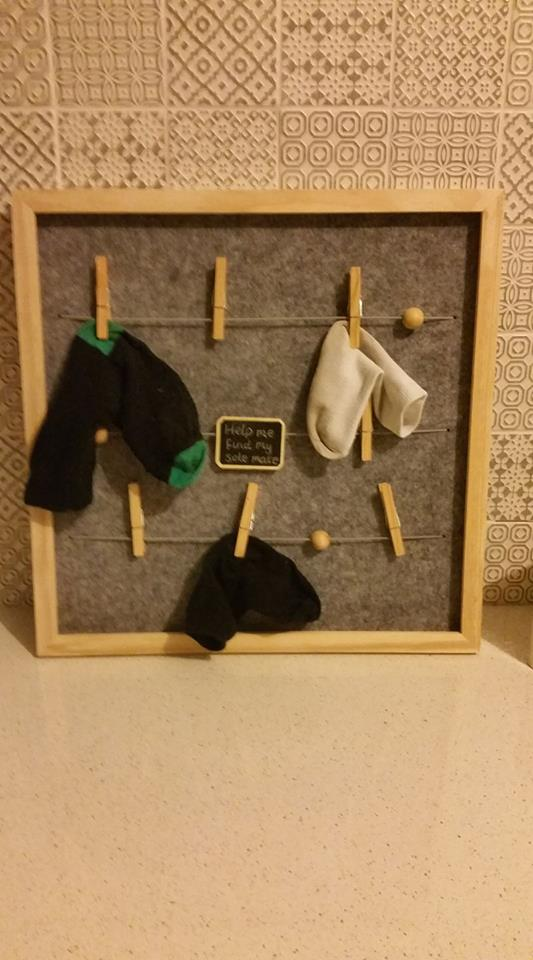 Memo board or lost sock holder