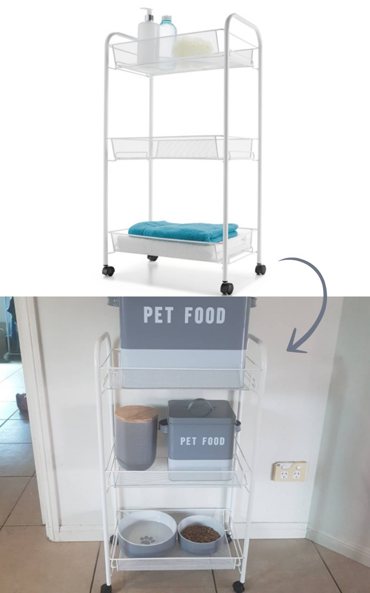 Use a trolley as a pet station