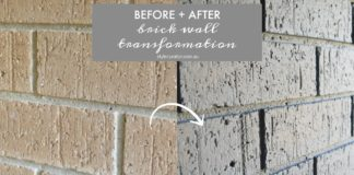 Brick wall before and after
