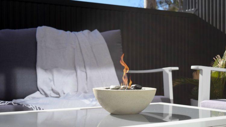 DIY decorative mini fire bowl