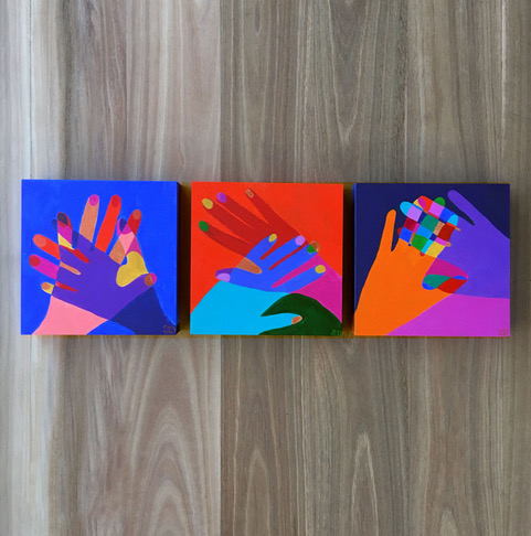 Hand in hand art by Emilio Frank Design_Shana Danon