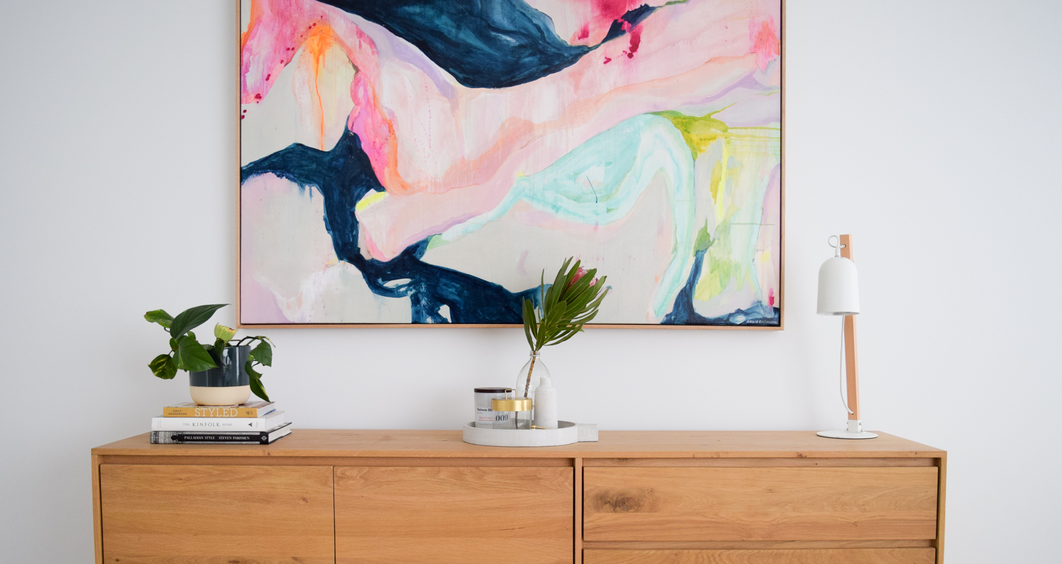 Rule of 3 in interior styling How to style your sideboard