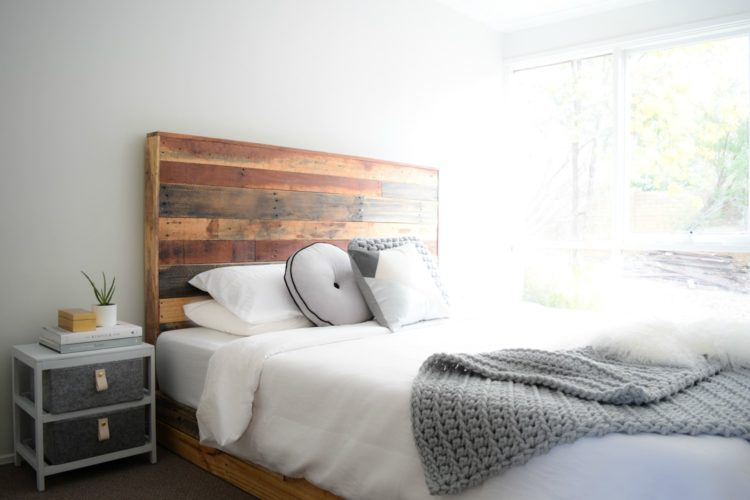 Practical tips to get the perfect shade of white paint: Before and after bedroom painted in on-trend Monsta grey white paint