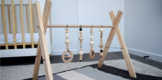 DIY baby play gym