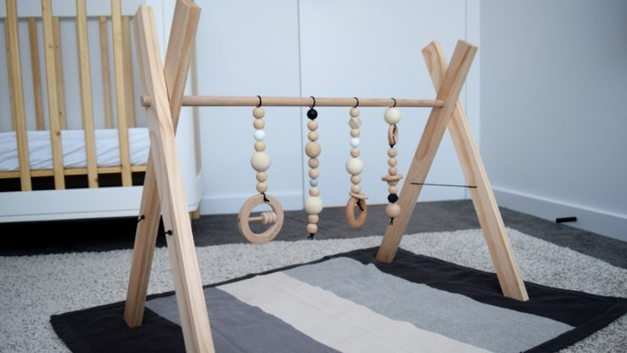 DIY baby play gym