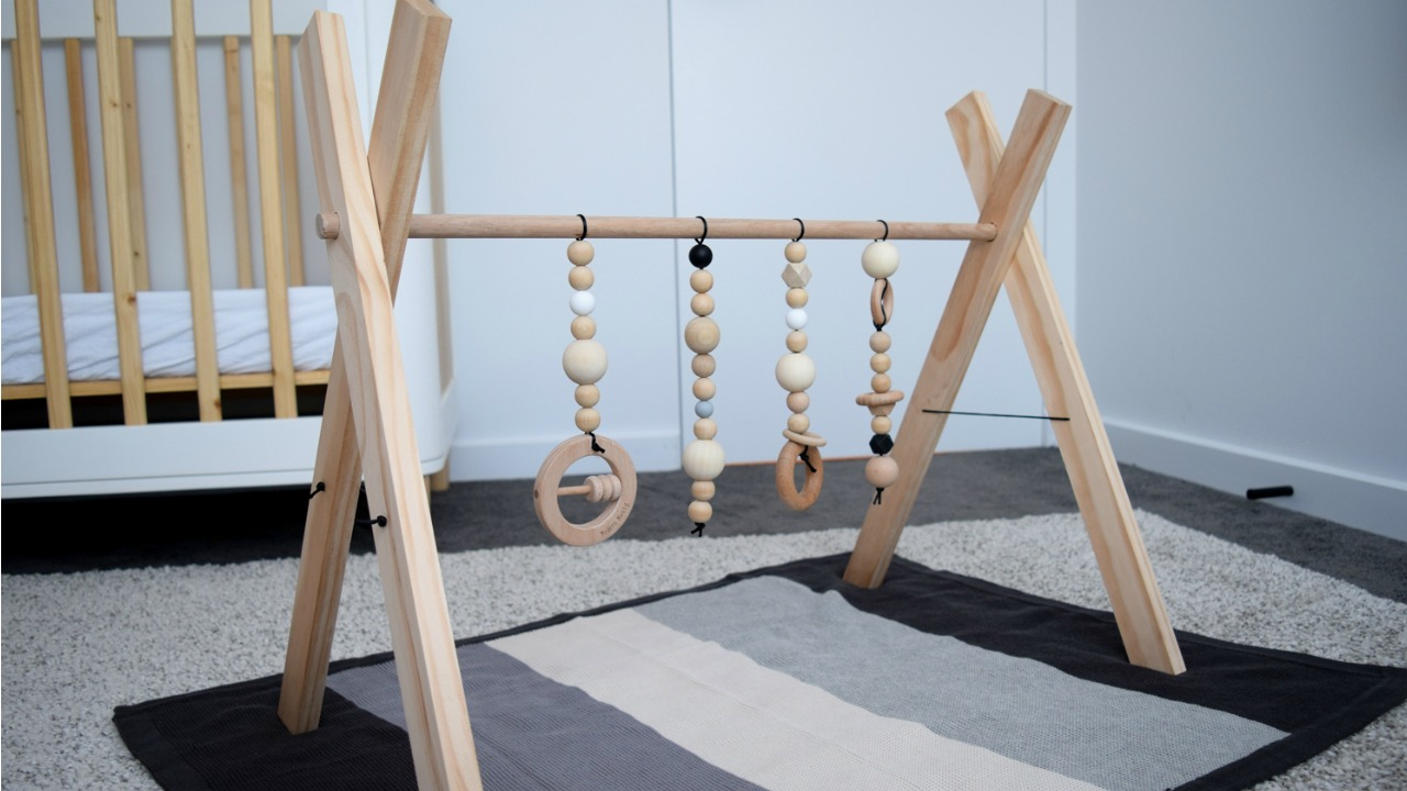 a800140f1487f DIY baby play gym  Make a stylish timber play gym for your baby ...