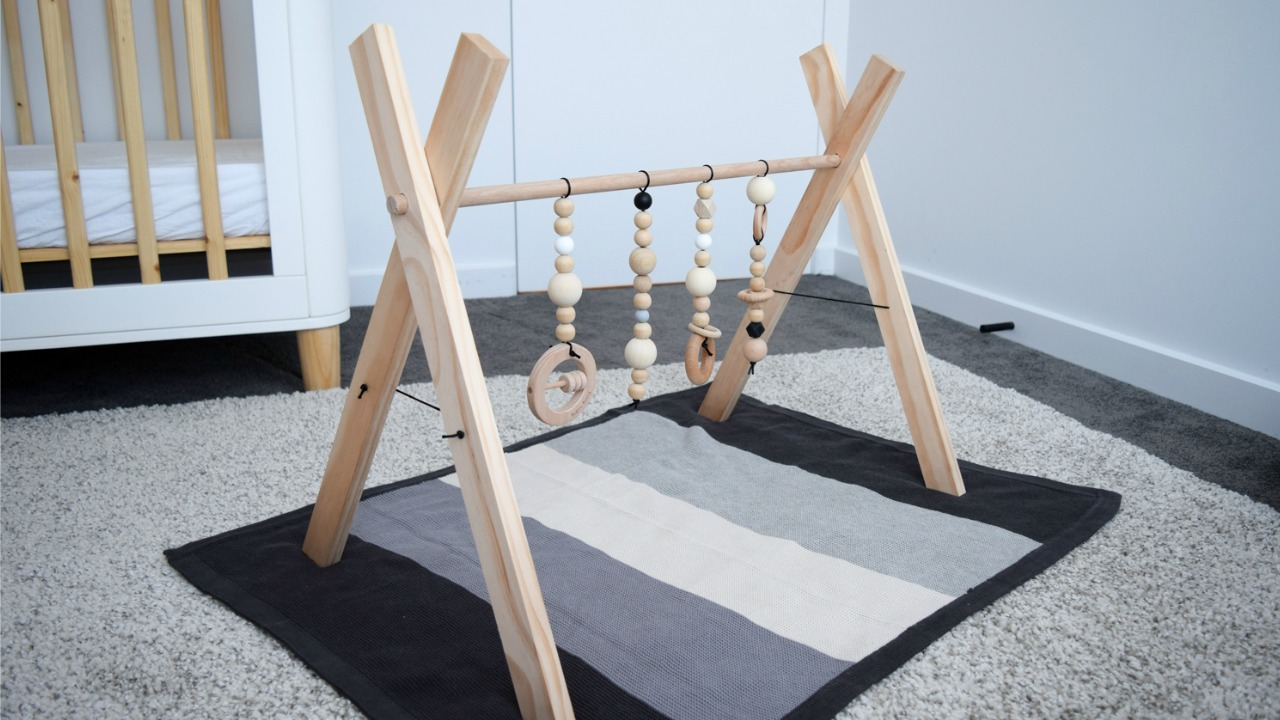 Stylish baby play gym