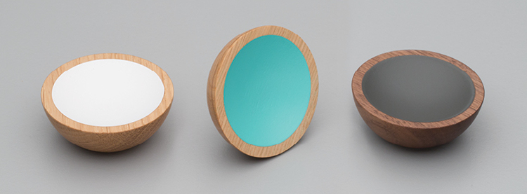 Colourful timber knobs