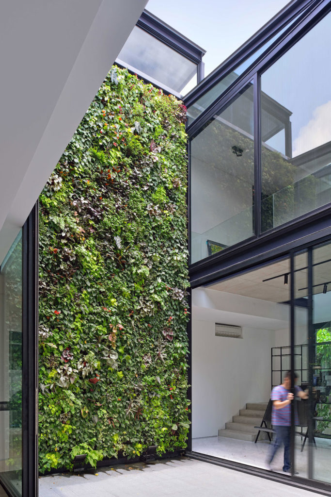 Vertical green wall Design greenery into your renovation