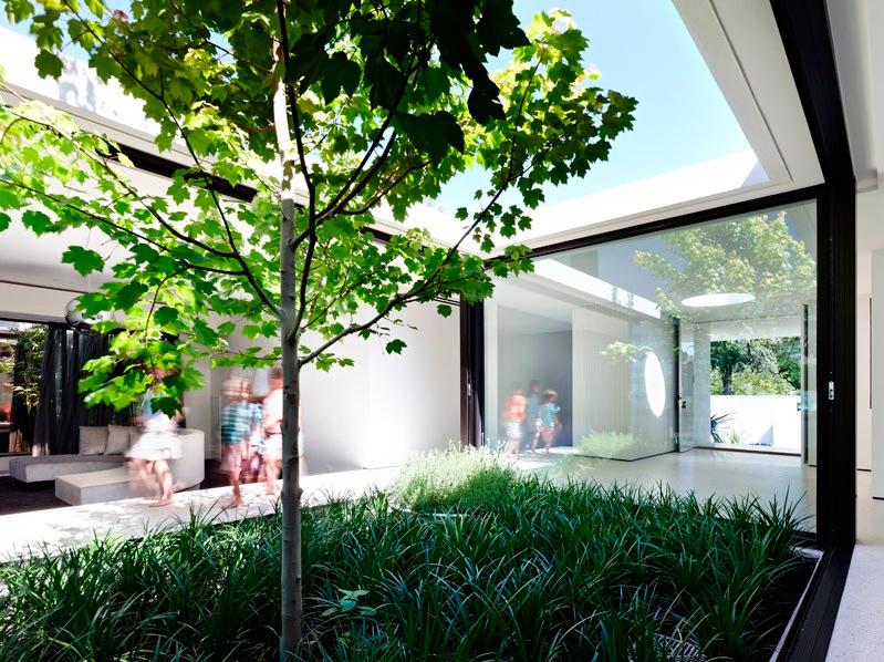 Internal courtyard Design greenery into your renovation