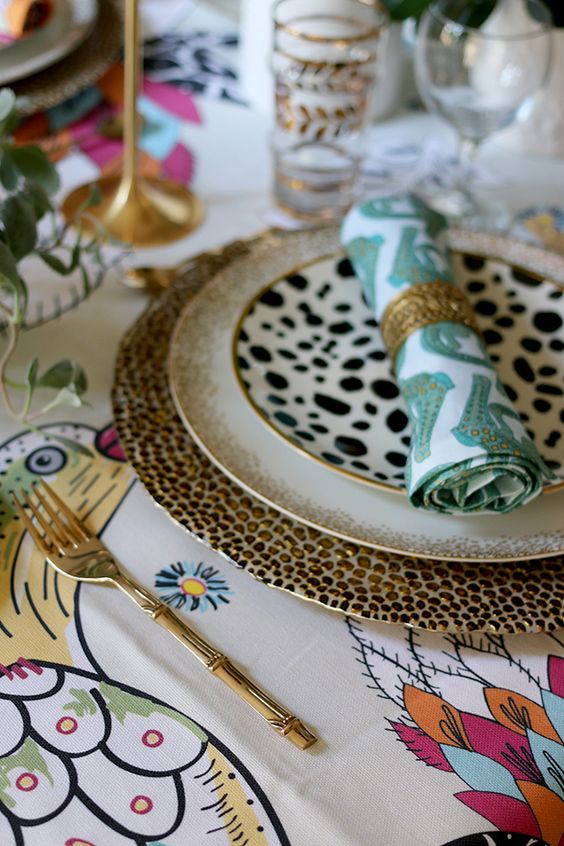 Eclectic Christmas table