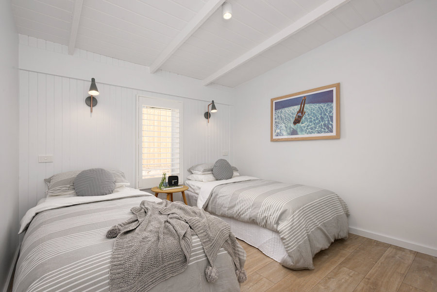 Twin bedroom Scandi-style home