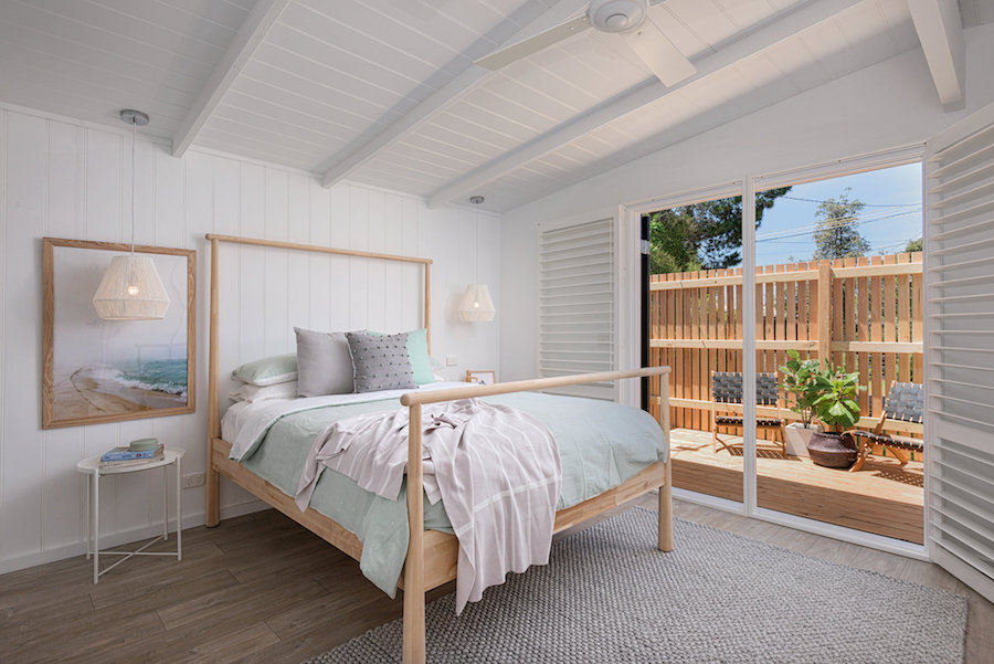 Coastal bedroom Scandi-style home