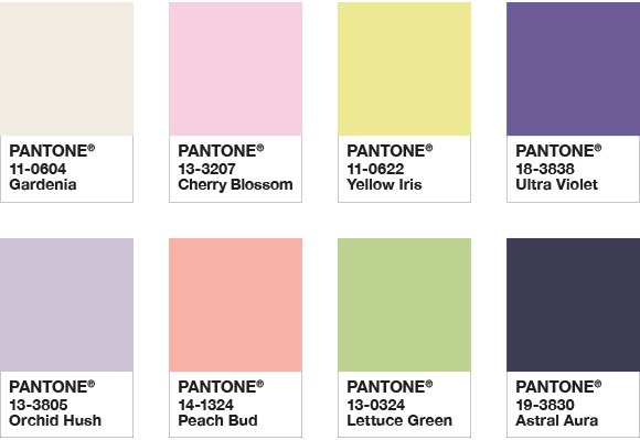 Floral fantasies colour palette