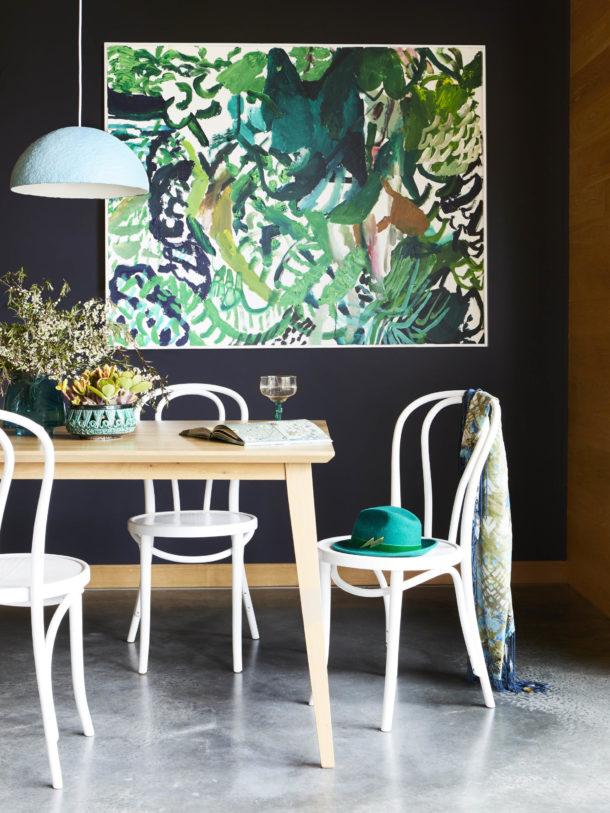 Dining room interior styling shoot