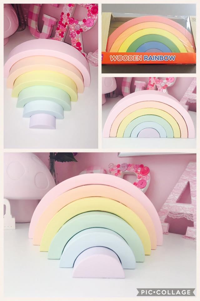 Pastel wooden rainbow