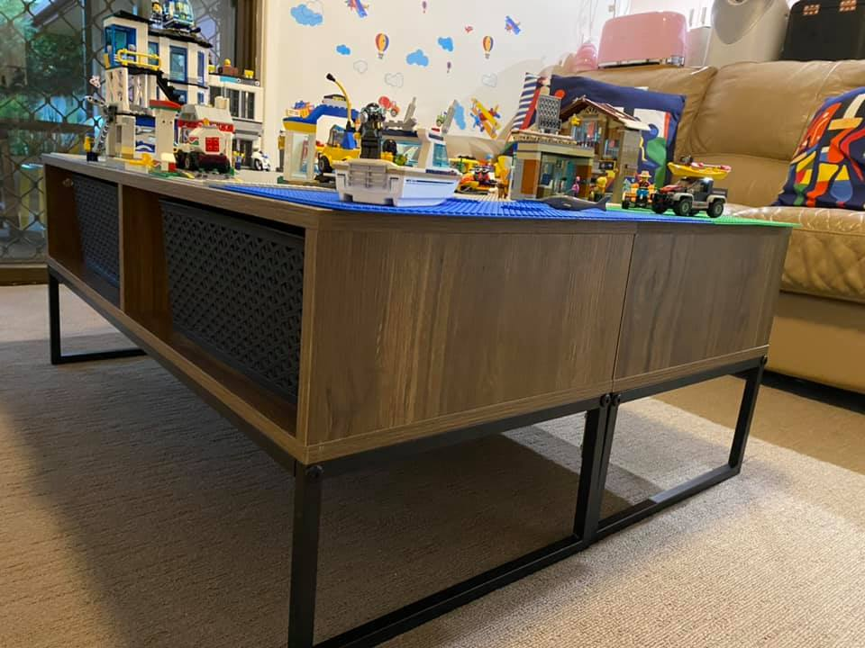 Entertainment unit lego table hack by Laura