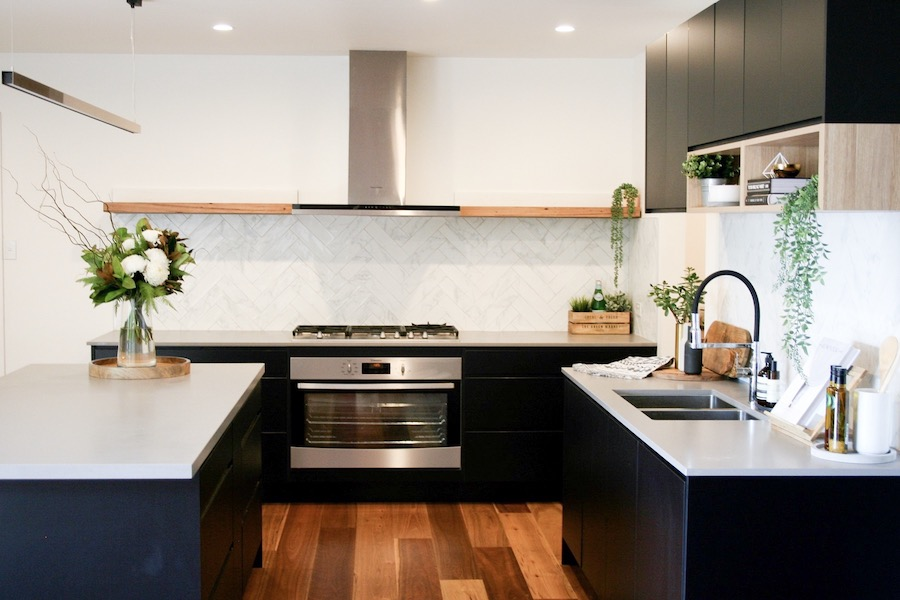 Matte Black And Timber Accent Kitchen Style Curator