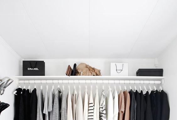 Organsied wardrobe