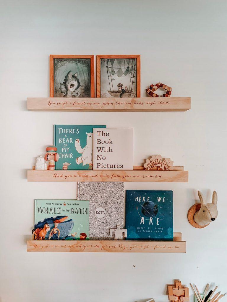 Personalised shelf by Kids Kulture