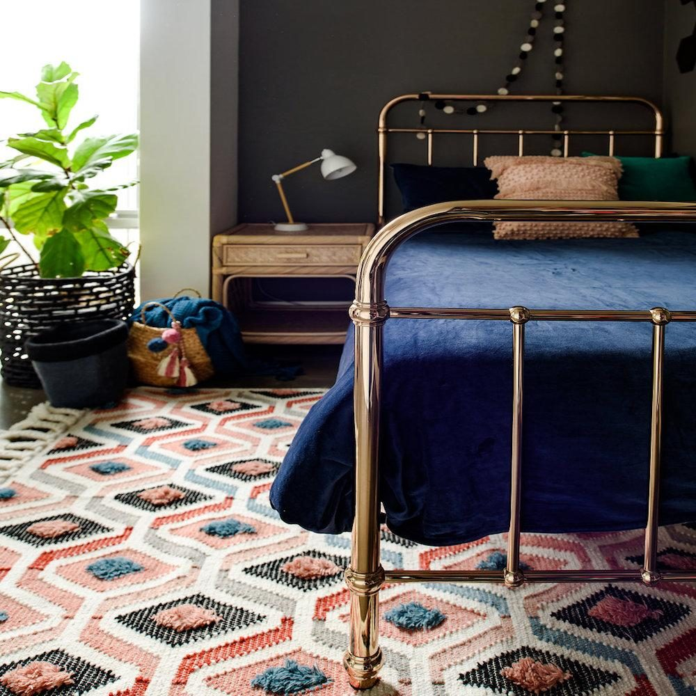 Colourful textured rug