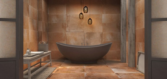 Terracotta bathroom
