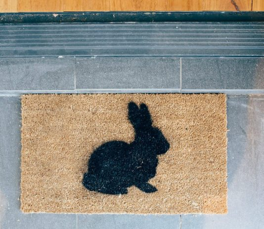 Bunny doormat
