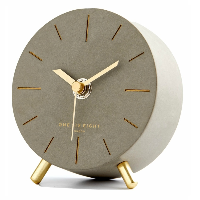 Angelo Silent Mantel Clock from The Block Shop