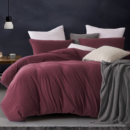 Burgundy bedding