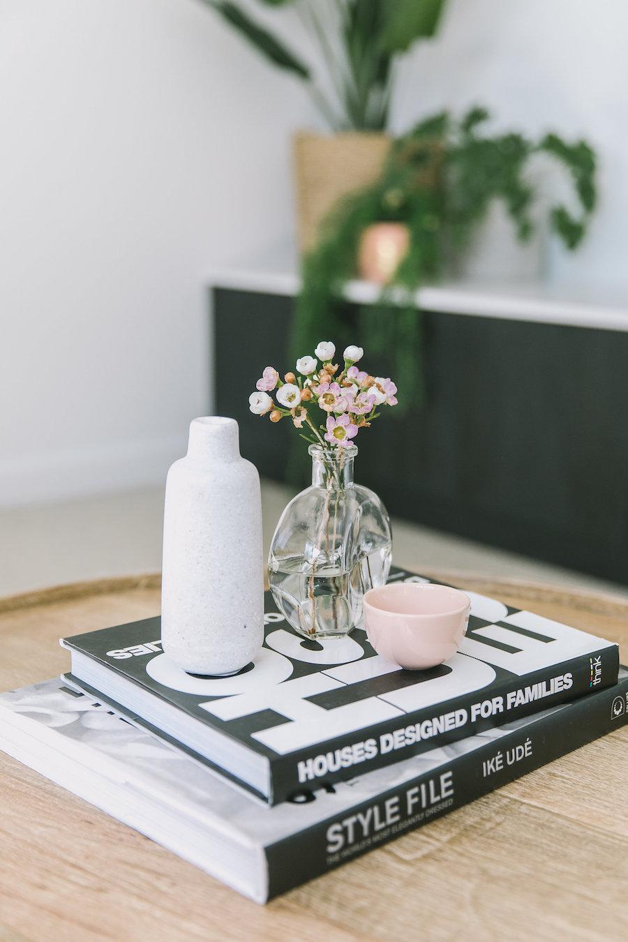 Bookshelf before Living room makeover