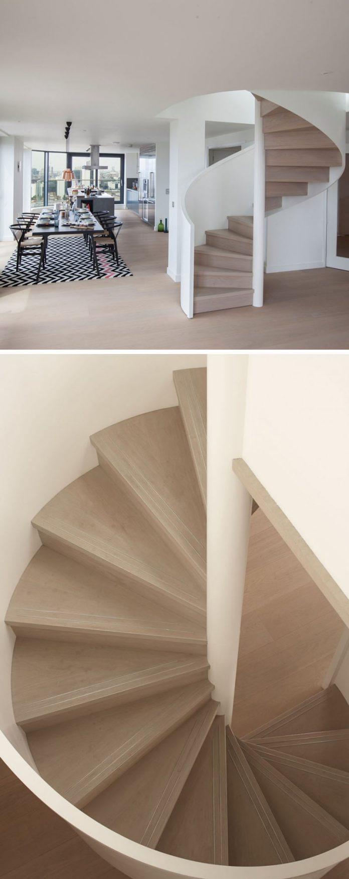 Light oak steps